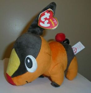 CT* Ty TEPIG the Pokemon Beanie Baby (UK Exclusive)(6 Inch) MINT w/ CREASED TAG