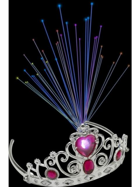 Light Up Fibre Optic Tiara,Pink Jewels,One Size,Time4Fun Leisure Products, #AU