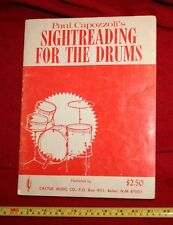 VTG 1970❤ SIGHT READING FOR THE DRUMS•percussion•artist•Music•Book•Capozzoli☮73