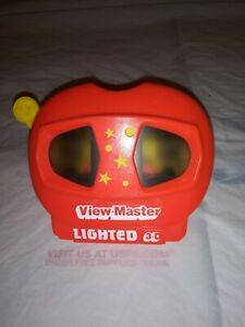 Lighted-3-D-View-Master-Antique-3D-View-Master-Vintage-Retro-L244-Tyco-Toys-Red