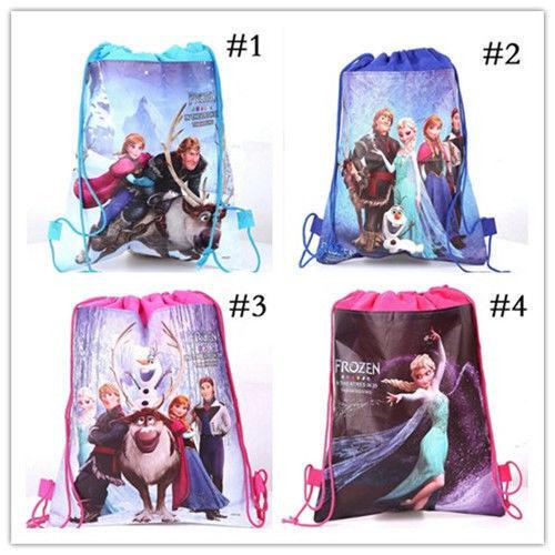 NEW Frozen Bag Princess Environmental Drawstring Swimming PE Toy Kids Gift