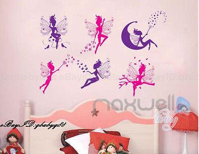 Butterfly Angel Fairy Star Wall decals Removable sticker kids girl nursery decor
