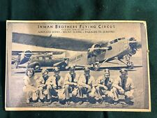 4 INMAN BROTHERS FLYING CIRCUS POSTCARD - 1940'S ?