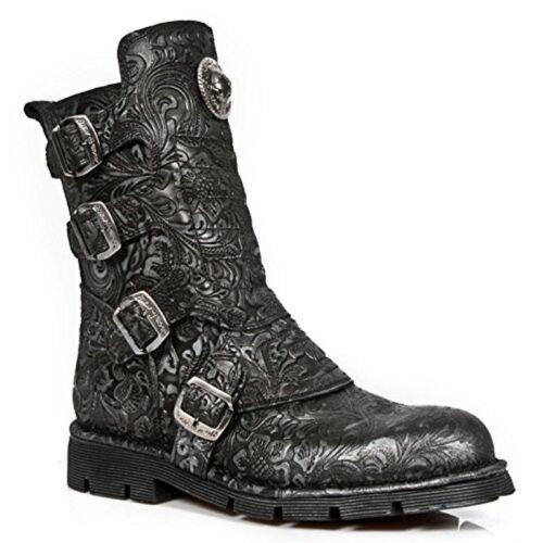 Boot Vintage Drama Rock Punk Ladies Newrock Leather M1471 New s8 Black Shoe Real wqTxPx6Apn