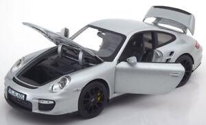 Norev 2007 Porsche 911 (997) Gt2 Argent 1/18 Echelle Nouvelle Version