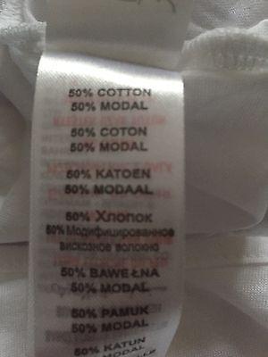 Blanco Nuevo Look Chaleco Top Camiseta Talla 18 tengo suficiente Zapatos logotipo BNWOT
