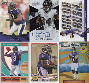 BALTIMORE-RAVENS-Lot-of-10-Football-cards-includes-Autograph-amp-Jersey-cards