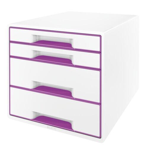 Leitz Schubladenbox WOW Bürobox Postset 5213 5252 mit 4 Schubladen in 9 Farben