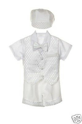 Dashing New Infant Boy & Toddler Christening Baptism Formal Tuxedo Suit New Born 0m-3t Utmost In Convenience