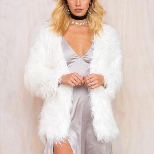 d'hiver hiver Manteau fausse cheveux synthétique de manteau survêtement manteau fourrure moelleux 4UU5qB
