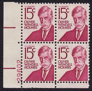 #1288 15c Oliver Wendell Holmes, Plt Negro [ 29602 Ll ], Nuevo Cualquier 4=
