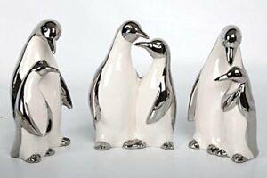 Penguin-Ornaments-Set-of-3-Glazed-Porcelain-Figurines