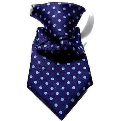 Aspirante Cravatta Bimbo Blu Mini Man Bambino Primi Mesi 18 Pois Azzurro Seta Battesimo