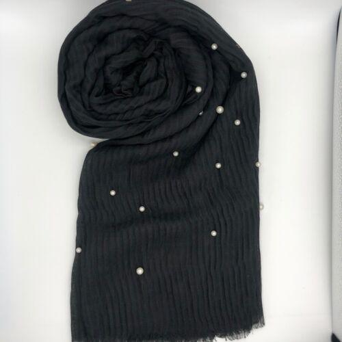 Pleated Scarf Pearl Plain Crinkle Hijab Ripple Stripe Viscose Crimp 2019 Shawl