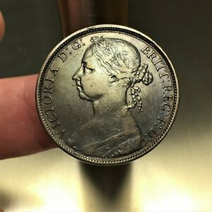 1891-Great-Britain-Penny-Queen-Victoria-KM-755-XF