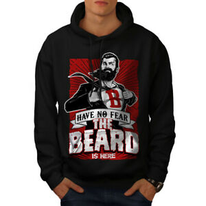 Wellcoda The Beard Is Here Mens Hoodie, Have Casual Hooded Sweatshirt