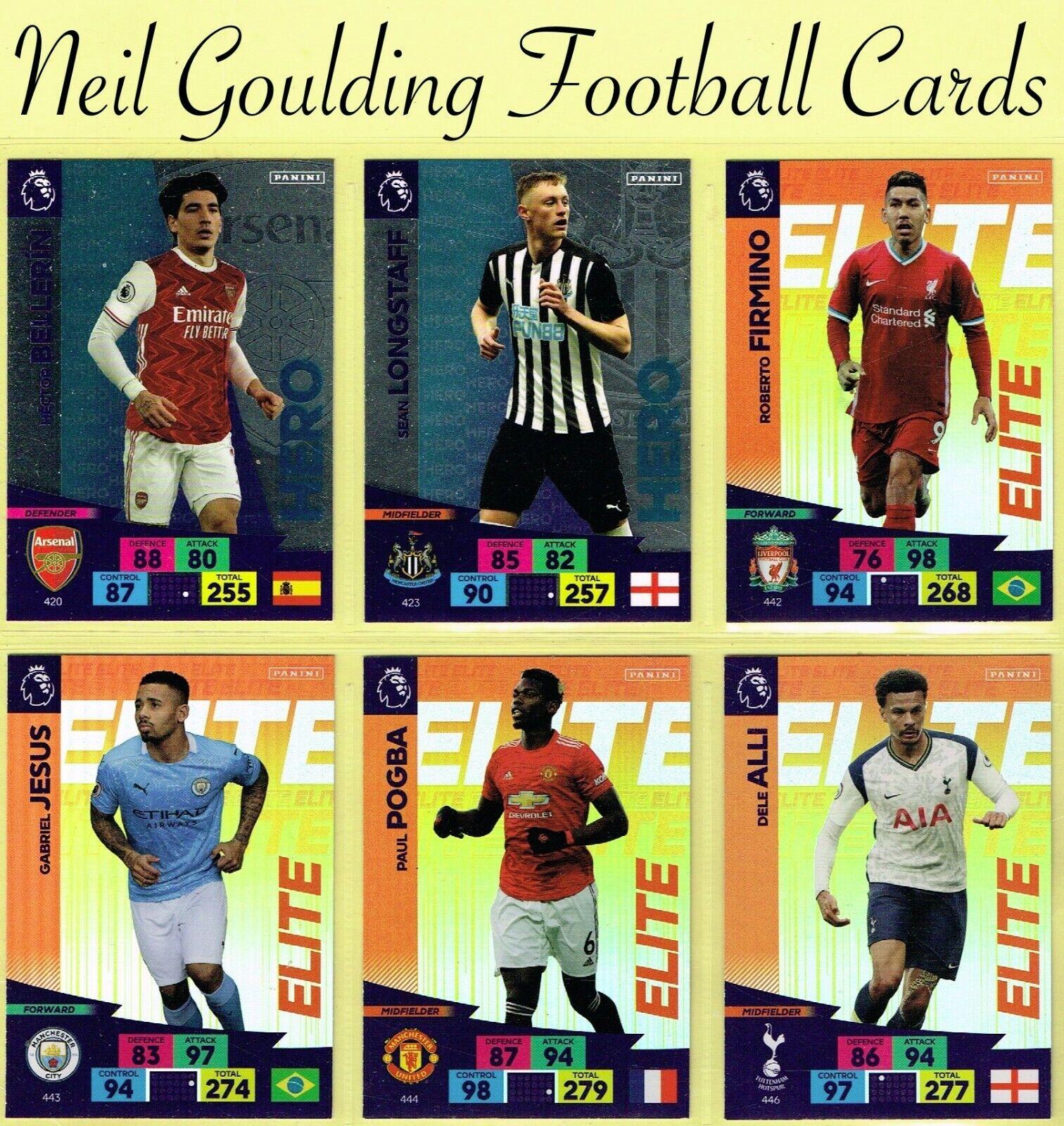 Panini Adrenalyn XL Liga Premier 20//21 10 Pack//Paquetes Booster 6 tarjetas cada