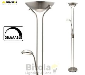 NEW-MERCATOR-BUCKLEY-LED-DIMMABLE-FLOOR-LAMP-MOTHER-amp-CHILD-BRUSHED-CHROME