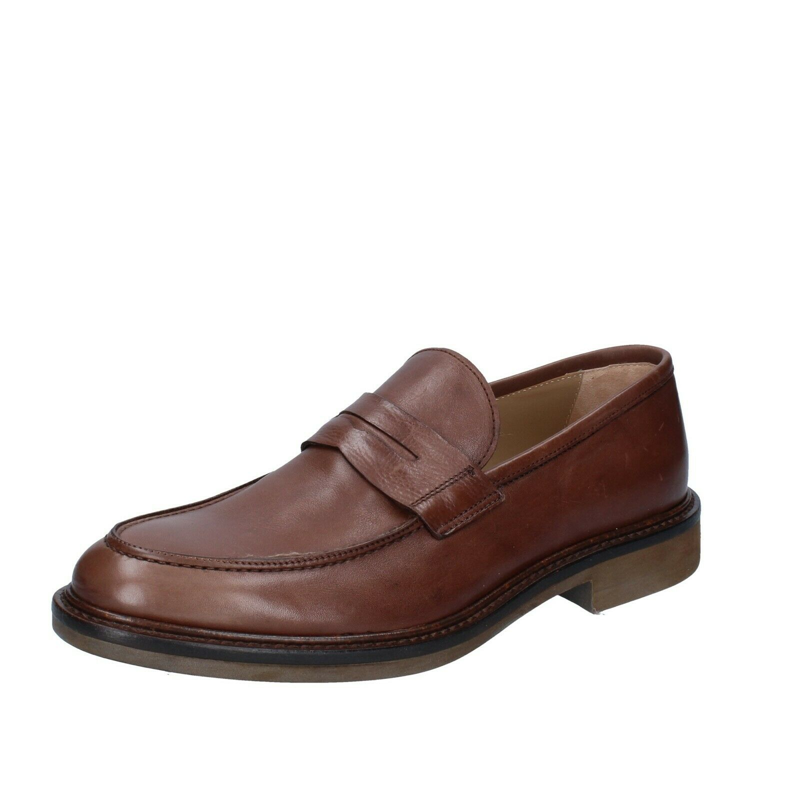 Men's shoes ZENITH 10 () loafers brown leather BS621-43