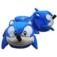 One Pair The HEDGEHOG Sonic Soft Plush Slipper