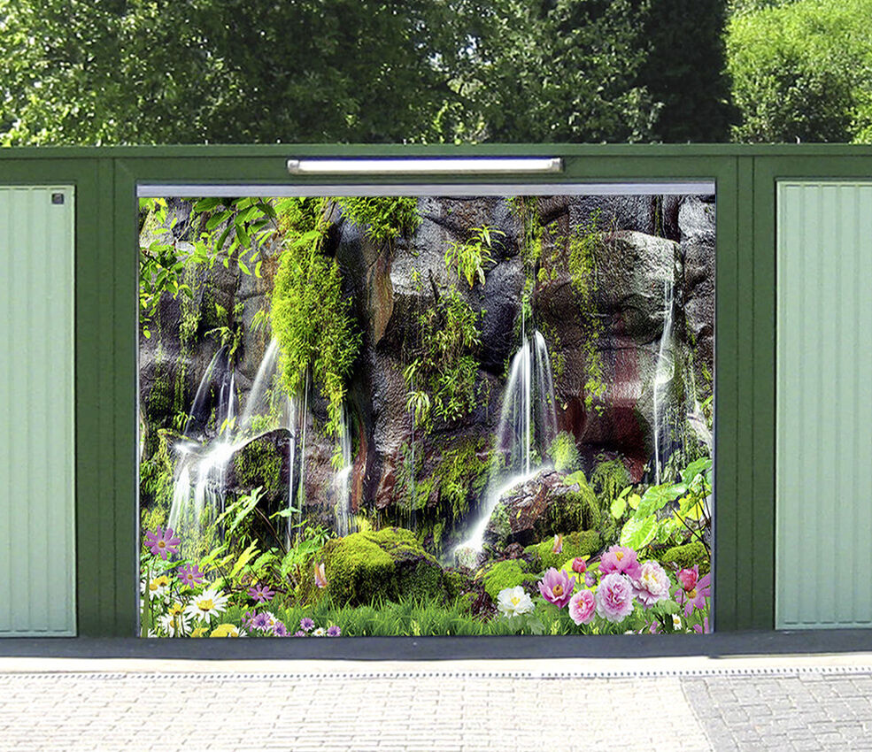3D Cliff Streams 4 Garage Door Murals Wall Print Decal Wall Deco AJ WALLPAPER IE
