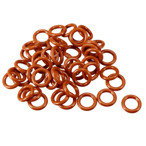 Silicone O-Ring 8mm-70mm OD 1.9mm//2mm Width VMQ Seal Rings Sealing Gasket Red
