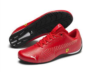Puma-Ferrari-Drift-Cat-5-Ultra-II-Baskets-homme-en-rouge-et-noir-chaussures