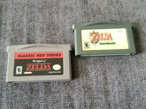 Lot-2-Games-Legend-Of-Zelda-Four-Swords-Classic-NES-Nintendo-Gameboy-Advance-GBA