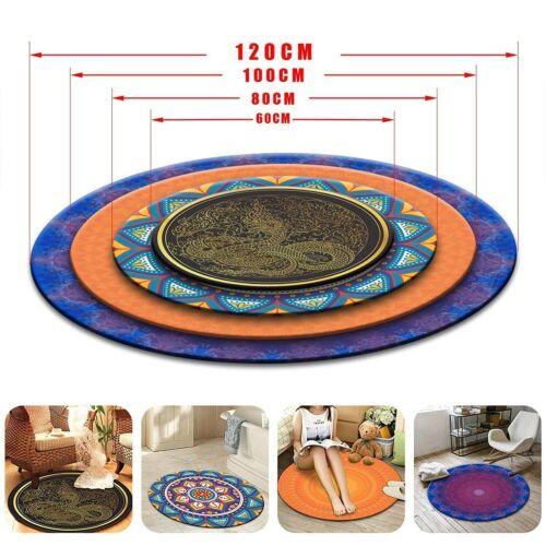 Retro Nautical Compass Round Yoga Carpet Bedroom Area Rugs Living Room Floor Mat