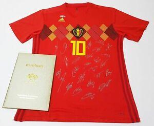 del casa Copa de 2018 firmado fútbol en camiseta Bélgica Mundo Equipo dvvxCa