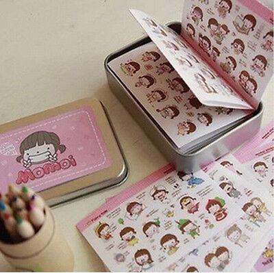 Tin Case Cute Diary Calendar Filofax Schedule Notebook Deco Sticker Craft AUWK