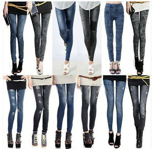 Women Denim Jeans Sexy Skinny Legging Jeggings Stretch Pants ...