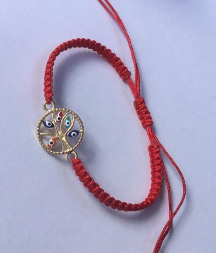 Gold златиста-Tree Of Life Red Thread Luck Handmade Bracelet