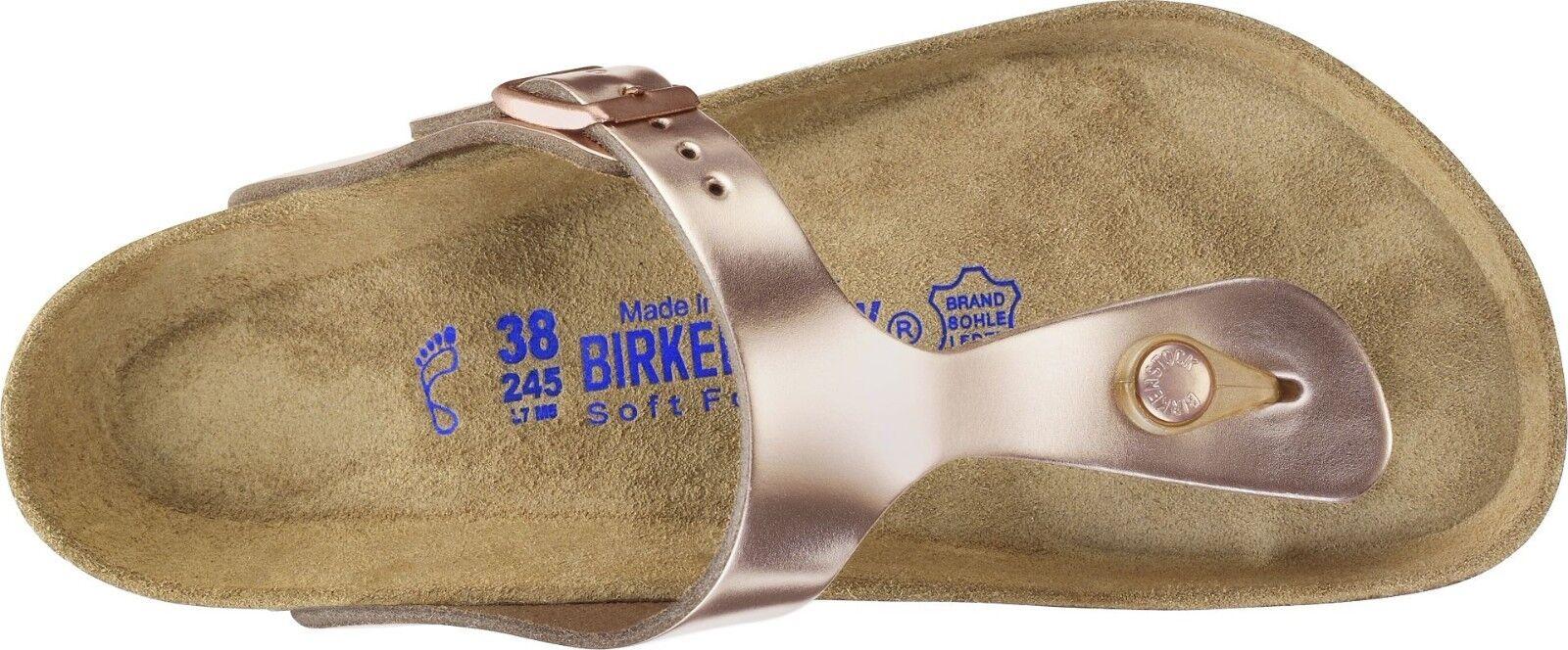 Birkenstock Gizeh Metallic Normal Copper Weichbettung Normal Metallic in 35,36,37,38,39,40,41,42 b9d82e