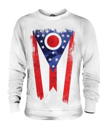 Ohio État Drapeau Grunge Unisexe Pull Ohio T-Shirt Jersey Cadeau