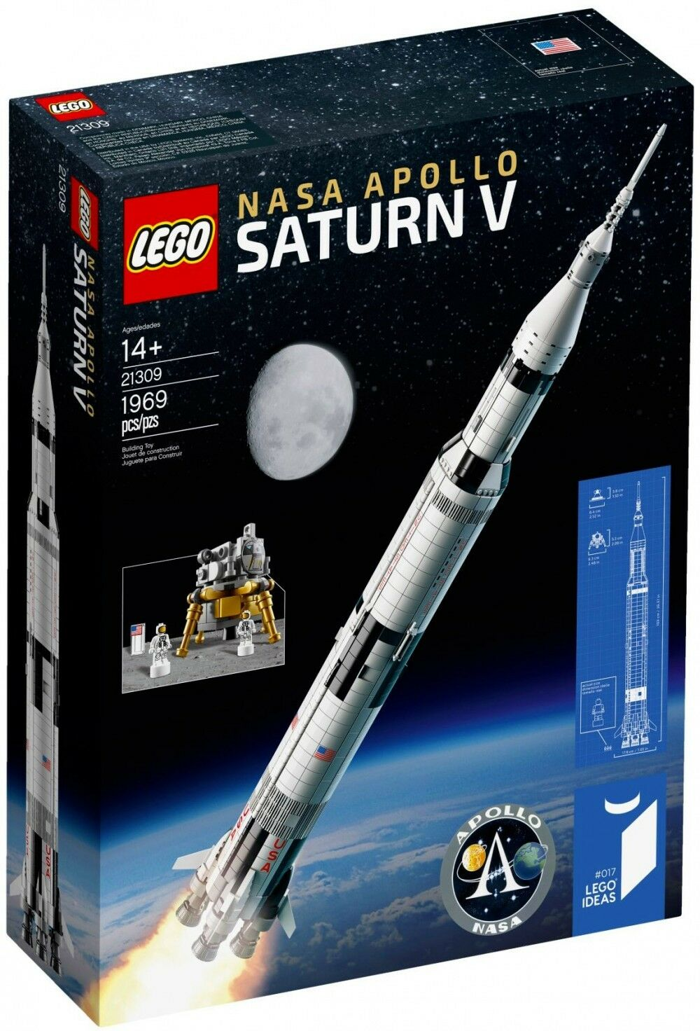 Lego Ideas - 21309 - LEGO NASA Apollo Saturn V - NEUF - Scellé - DISPO