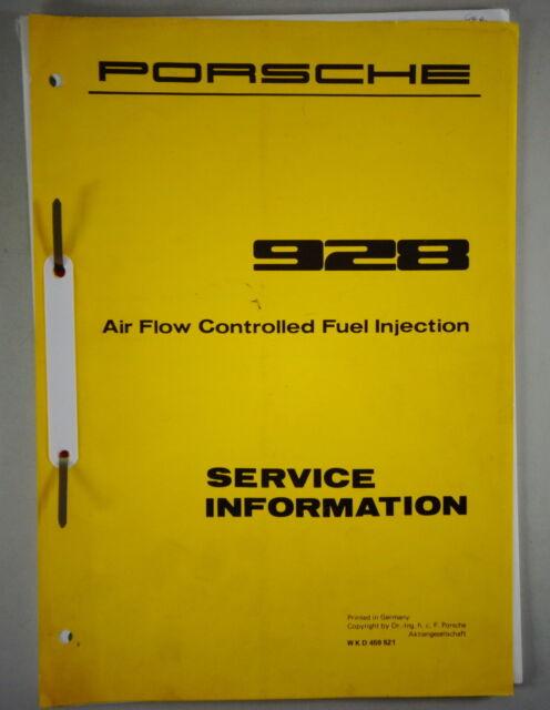 Workshop Manual  Service Information Porsche 928 Fuel
