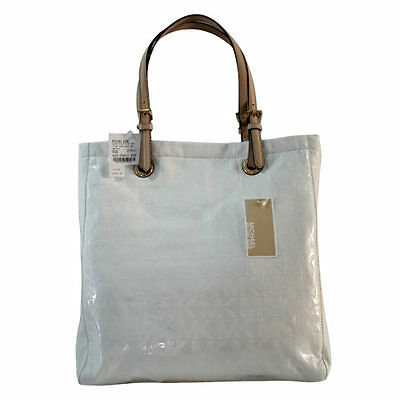 Michael Kors Jet Set Mirror Metallic Jet Set Tote in White Agsbeagle #COD Paypal