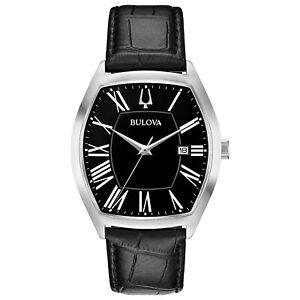 Bulova-Men-039-s-Classic-Collection-Ambassador-Quartz-Black-44-5mm-Watch-96B290