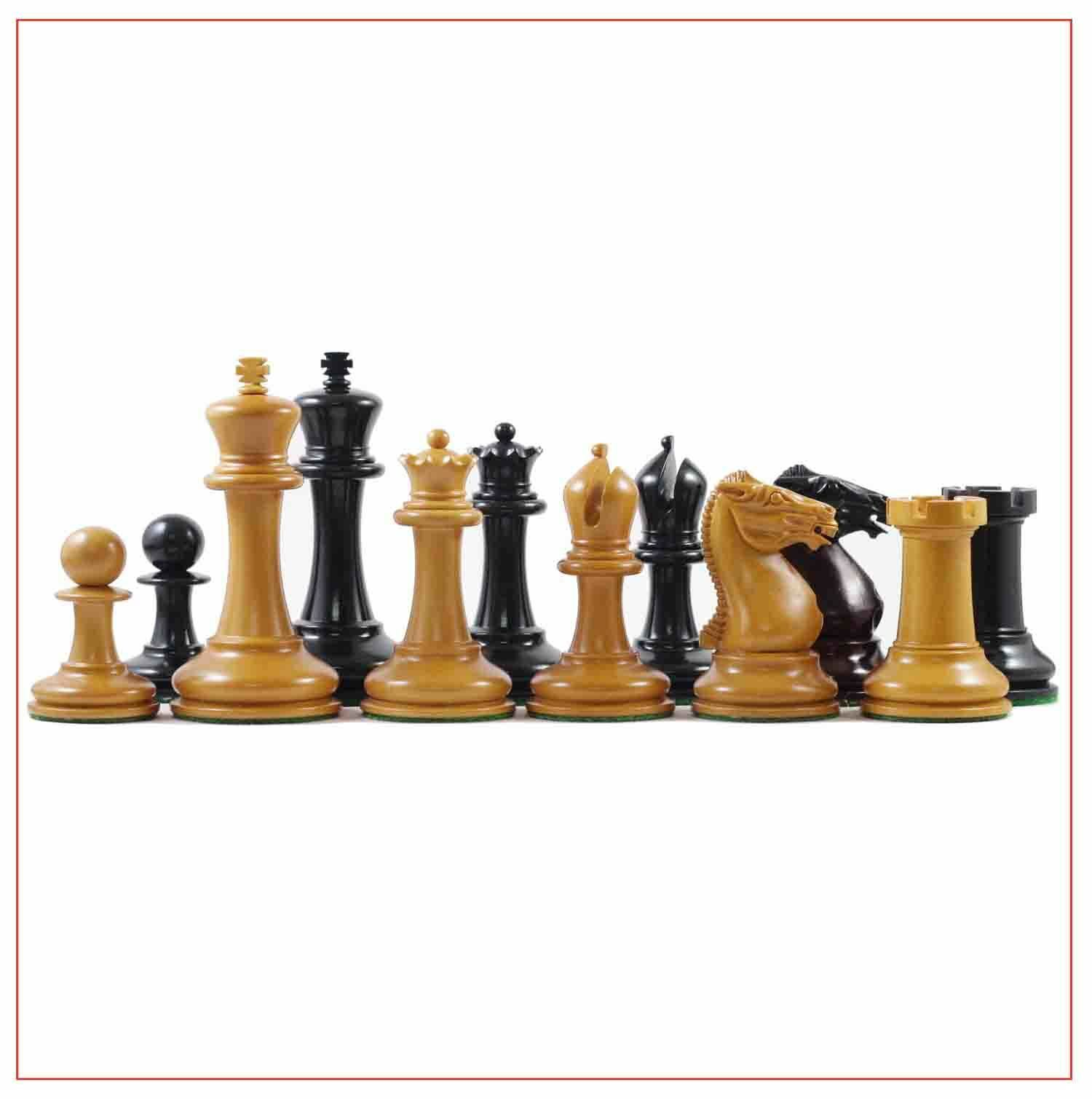 Walter Grimshaw 1854 Circa Reproduction Reproduction Reproduction Staunton Antiqued Ebony Chess Set 84d61a
