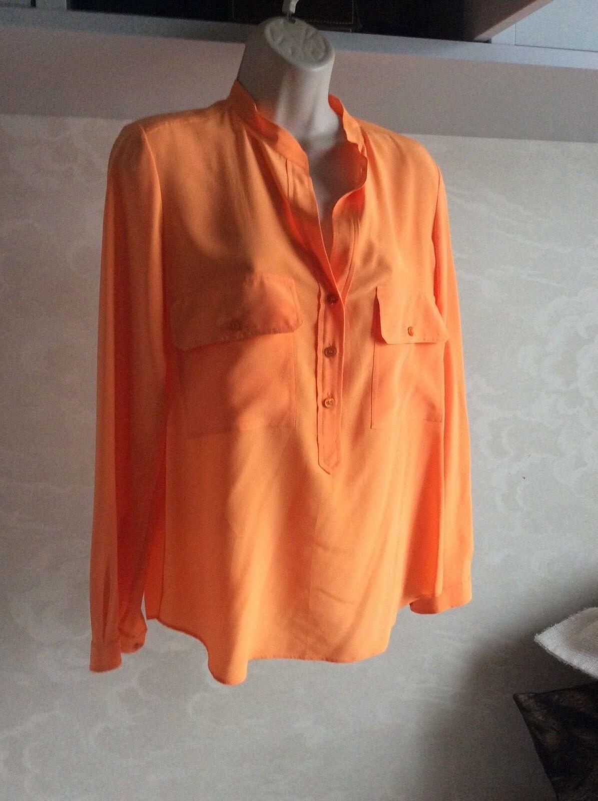 damen's Stella McCartney Orange silk blouse Größe 36