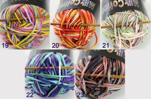 Sale Soft Cotton Baby Yarn New Hand dyed Wool Socks Scarf Knitting 1ball x 50g