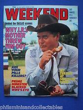 Weekend Magazine - Larry Hagman, Wigs, Hannah Gordon    30th Apr 1980