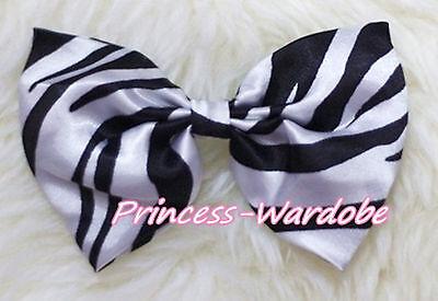 Baby Girl Chiffon Animal/Polka Dot Color hair Ribbon Bow For Pettiskirt headband
