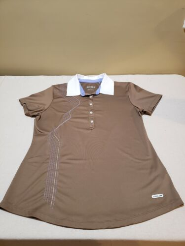 Annika by Cutter & Buck Golf Shirt - brown - size