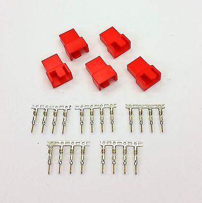 Rigoroso Pk Del 5-maschio 4 Pin Fan Connettore Di Alimentazione-colore Rosso Piedini Inc-