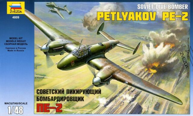 1:48 Zvezda #4809 Soviet Dive Bomber Petlyakov PE-2  WWII  UdSSR, USSR Neuheit !