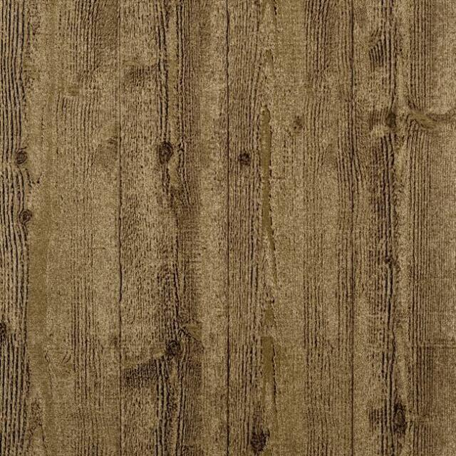 Wallpaper Textured Thick Vinyl Faux Wood Planks Shiplap Metallic Gold on Gold