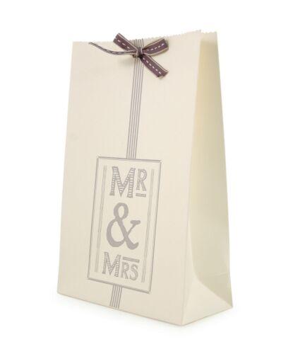 Kraft Sac Cadeau Avec Ruban East of India Mr /& Mrs