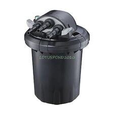Compact 1500 Gallon Pressure 13W UVC Fish Pond Bio-Filter Easy Backwash Feature